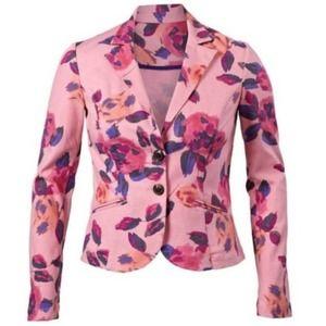 Cabi #504 Rose Garden Floral Blazer Pink Size 8